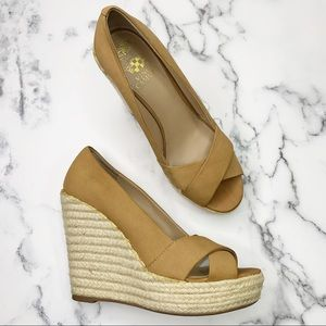 VINCE CAMUTO Taryn Espadrille Wedge Heels Size 8.5